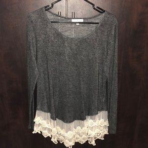 Grey Lace Shirt